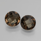 thumb image of 3.2ct Round Checkerboard Brown Smoky Quartz (ID: 428573)