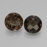 thumb image of 3.3ct Round Checkerboard Brown Smoky Quartz (ID: 428575)