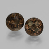 thumb image of 3.4ct Round Checkerboard Brown Smoky Quartz (ID: 428576)