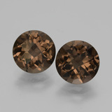 thumb image of 3.5ct Round Checkerboard Brown Smoky Quartz (ID: 428578)