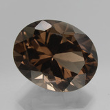thumb image of 9ct Oval Facet Brown Smoky Quartz (ID: 432022)