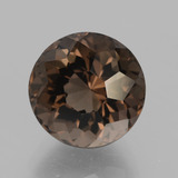 thumb image of 5ct Round Petal Cut Brown Smoky Quartz (ID: 432130)