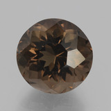 thumb image of 4.5ct Round Petal Cut Brown Smoky Quartz (ID: 432131)