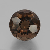 thumb image of 10.7ct Round Petal Cut Brown Smoky Quartz (ID: 432483)