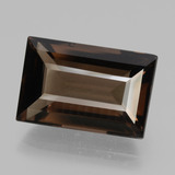 thumb image of 9.4ct Baguette Facet Brown Smoky Quartz (ID: 432607)