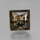 thumb image of 3ct Princess-Cut Brown Smoky Quartz (ID: 432911)