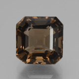 thumb image of 5.4ct Asscher Cut Brown Smoky Quartz (ID: 433407)