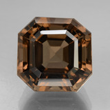 thumb image of 8.3ct Asscher Cut Brown Smoky Quartz (ID: 433410)