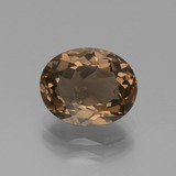 thumb image of 2.5ct Oval Facet Brown Smoky Quartz (ID: 434510)