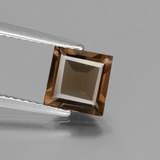 thumb image of 1.2ct Square Facet Brown Smoky Quartz (ID: 434663)