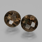 thumb image of 4ct Round Checkerboard Brown Smoky Quartz (ID: 436886)