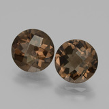 thumb image of 3.5ct Round Checkerboard Brown Smoky Quartz (ID: 436887)