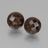 thumb image of 3.6ct Round Checkerboard Brown Smoky Quartz (ID: 436992)