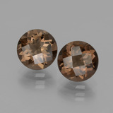 thumb image of 3.6ct Round Checkerboard Brown Smoky Quartz (ID: 436993)