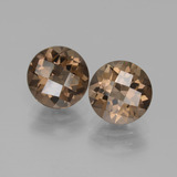 thumb image of 3.6ct Round Checkerboard Brown Smoky Quartz (ID: 436999)
