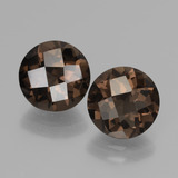 thumb image of 3.7ct Round Checkerboard Brown Smoky Quartz (ID: 437123)