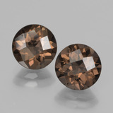 thumb image of 3.6ct Round Checkerboard Brown Smoky Quartz (ID: 437127)