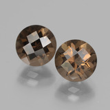 thumb image of 4ct Round Checkerboard Brown Smoky Quartz (ID: 437214)