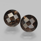 thumb image of 3.9ct Round Checkerboard Brown Smoky Quartz (ID: 437314)