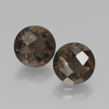 thumb image of 3.4ct Round Checkerboard Brown Smoky Quartz (ID: 437317)
