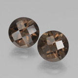 thumb image of 3.7ct Round Checkerboard Brown Smoky Quartz (ID: 437318)