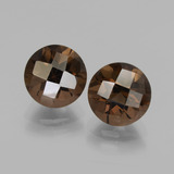 thumb image of 4.1ct Round Checkerboard Brown Smoky Quartz (ID: 437530)