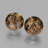 thumb image of 3.6ct Round Checkerboard Brown Smoky Quartz (ID: 437531)
