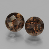 thumb image of 3.7ct Round Checkerboard Brown Smoky Quartz (ID: 437532)