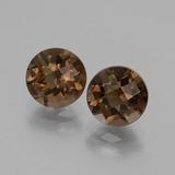 thumb image of 3.4ct Round Checkerboard Brown Smoky Quartz (ID: 437533)