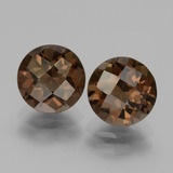 thumb image of 3.7ct Round Checkerboard Brown Smoky Quartz (ID: 437535)