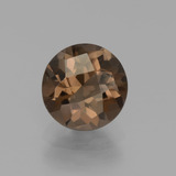thumb image of 1.6ct Round Checkerboard Brown Smoky Quartz (ID: 437540)