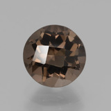 thumb image of 1.8ct Round Checkerboard Brown Smoky Quartz (ID: 439701)