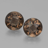 thumb image of 3.5ct Round Checkerboard Brown Smoky Quartz (ID: 439748)