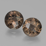 thumb image of 3.7ct Round Checkerboard Brown Smoky Quartz (ID: 439749)