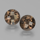 thumb image of 3.7ct Round Checkerboard Brown Smoky Quartz (ID: 439752)