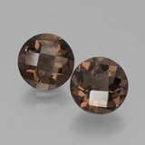 thumb image of 3.2ct Round Checkerboard Brown Smoky Quartz (ID: 439753)