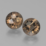 thumb image of 3.9ct Round Checkerboard Brown Smoky Quartz (ID: 439756)