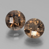 thumb image of 4ct Round Checkerboard Brown Smoky Quartz (ID: 439819)