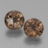 thumb image of 3.8ct Round Checkerboard Brown Smoky Quartz (ID: 439823)
