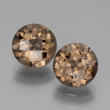 thumb image of 3.5ct Round Checkerboard Brown Smoky Quartz (ID: 439828)