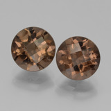 thumb image of 3.9ct Round Checkerboard Brown Smoky Quartz (ID: 439880)