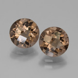 thumb image of 3.5ct Round Checkerboard Brown Smoky Quartz (ID: 439881)