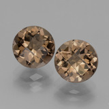 thumb image of 3.7ct Round Checkerboard Brown Smoky Quartz (ID: 439882)