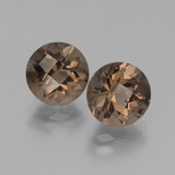 thumb image of 3.7ct Round Checkerboard Brown Smoky Quartz (ID: 439952)