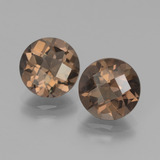 thumb image of 3.7ct Round Checkerboard Brown Smoky Quartz (ID: 439961)