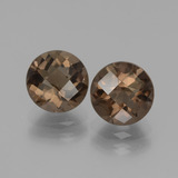 thumb image of 3.7ct Round Checkerboard Brown Smoky Quartz (ID: 440015)