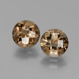 thumb image of 3.5ct Round Checkerboard Brown Smoky Quartz (ID: 440016)