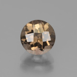 thumb image of 1.9ct Round Checkerboard Brown Smoky Quartz (ID: 440062)