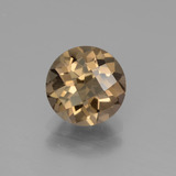 thumb image of 1.7ct Round Checkerboard Brown Smoky Quartz (ID: 440064)