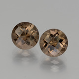 thumb image of 3.8ct Round Checkerboard Brown Smoky Quartz (ID: 440142)